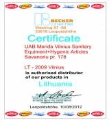 Becker Chemie sertifikatas