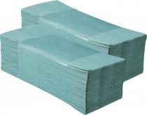 """Popieriniai rankšluosčiai sudėti """"Z"""" formoje MERIDA KLASIK, žalia, 4000 vnt. (20 pakelių po 200 vnt.)"""
