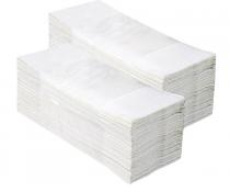 """Popieriniai rankšluosčiai sudėti """"Z"""" formoje MERIDA TOP, balti, 2860 vnt. (20 pakelių po 143 vnt.)"""