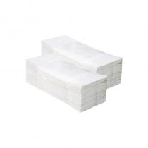 """Popieriniai rankšluosčiai sudėti """"Z"""" formoje OPTIMUM, balti, 3200 vnt. (20 pakelių po 160 vnt.)"""