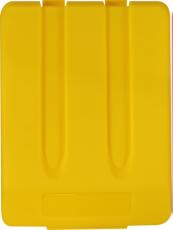 Dangtis plastikiniam 33 l atliekų rūšiavimo konteineriui, geltonas