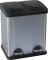 Plieninis mažas konteineris atliekų rūšiavimui, 2 x 15 l