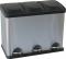 Plieninis mažas konteineris atliekų rūšiavimui, 3 x 15 l